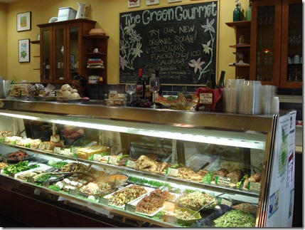 green gourmet counter