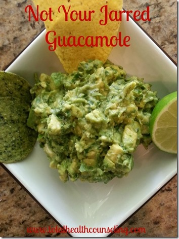Not Your Jarred Guacamole