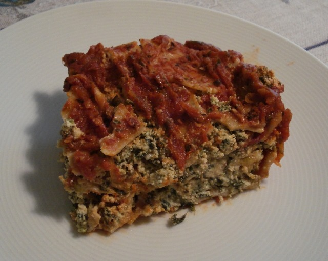 Spinach and Zucchini Lasagna {Dairy Free, Gluten Free}