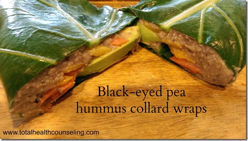 Black-eyed pea hummus collard wrap-copyright